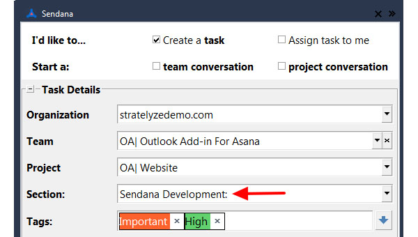ASSIGN TASK TO PROJECT SECTION​